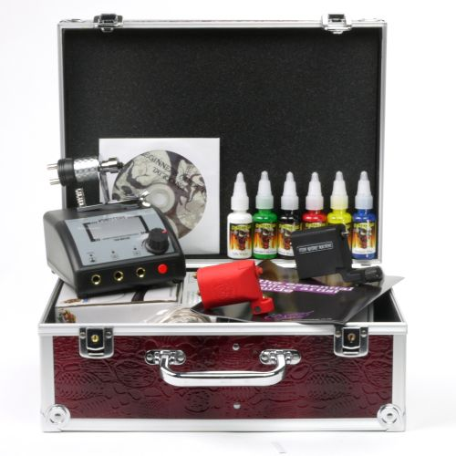 Tattoo machine gun kit professional beginners starter home for Best tattoo starter kit